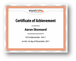 Pluralrsight Certificate