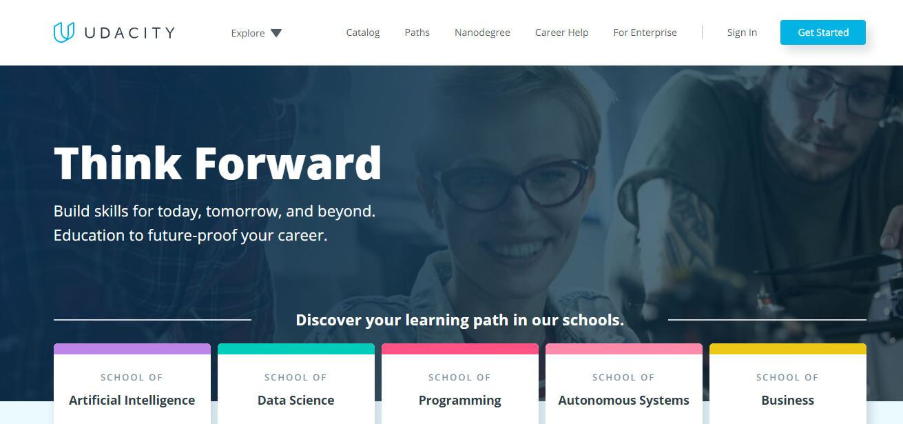 Udacity-home-page