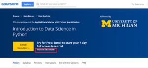 Coursera Scholarship