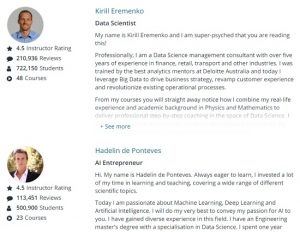 Udemy instructors