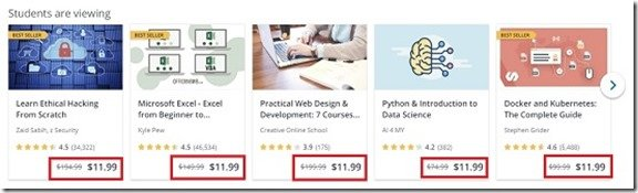 Udemy Course Price