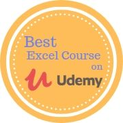 best excel course on udemy