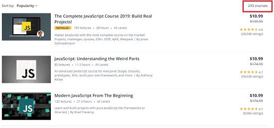 JavaScript-courses-on-Udemy