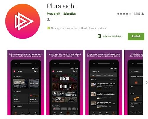 Pluralsight Android App