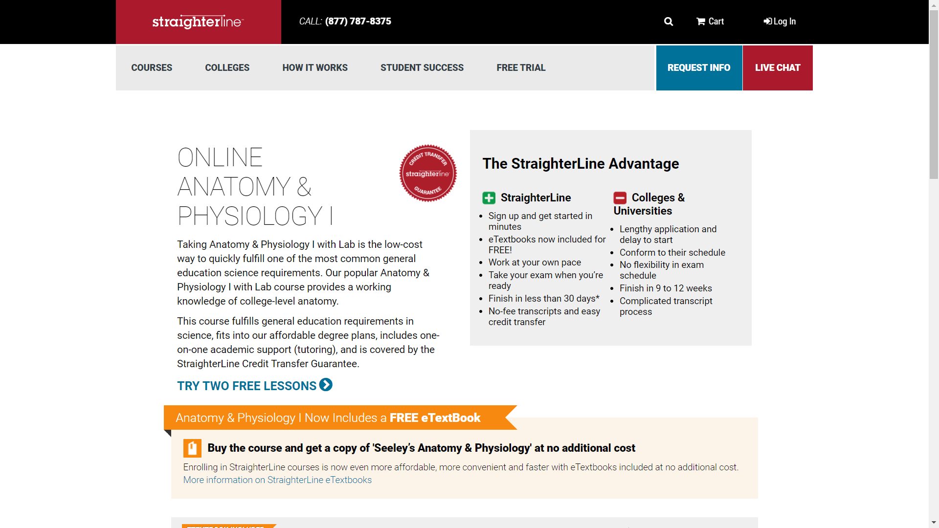Straighterline best anatomy course online